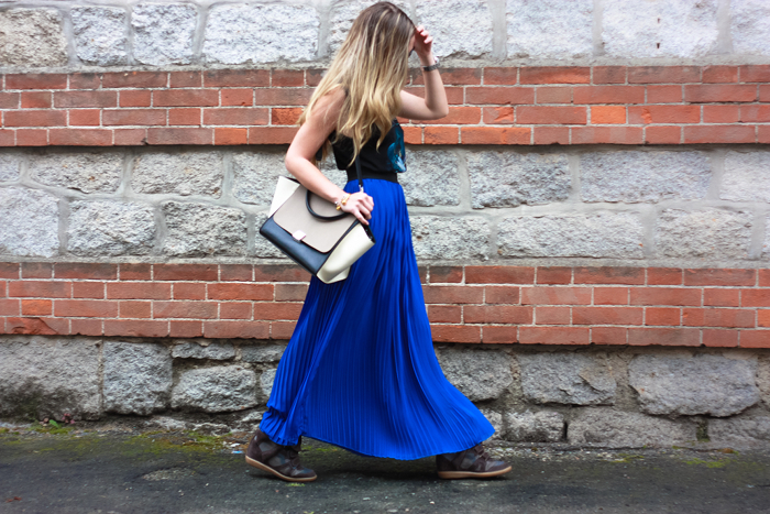 long skirt and celine trapeze outfit