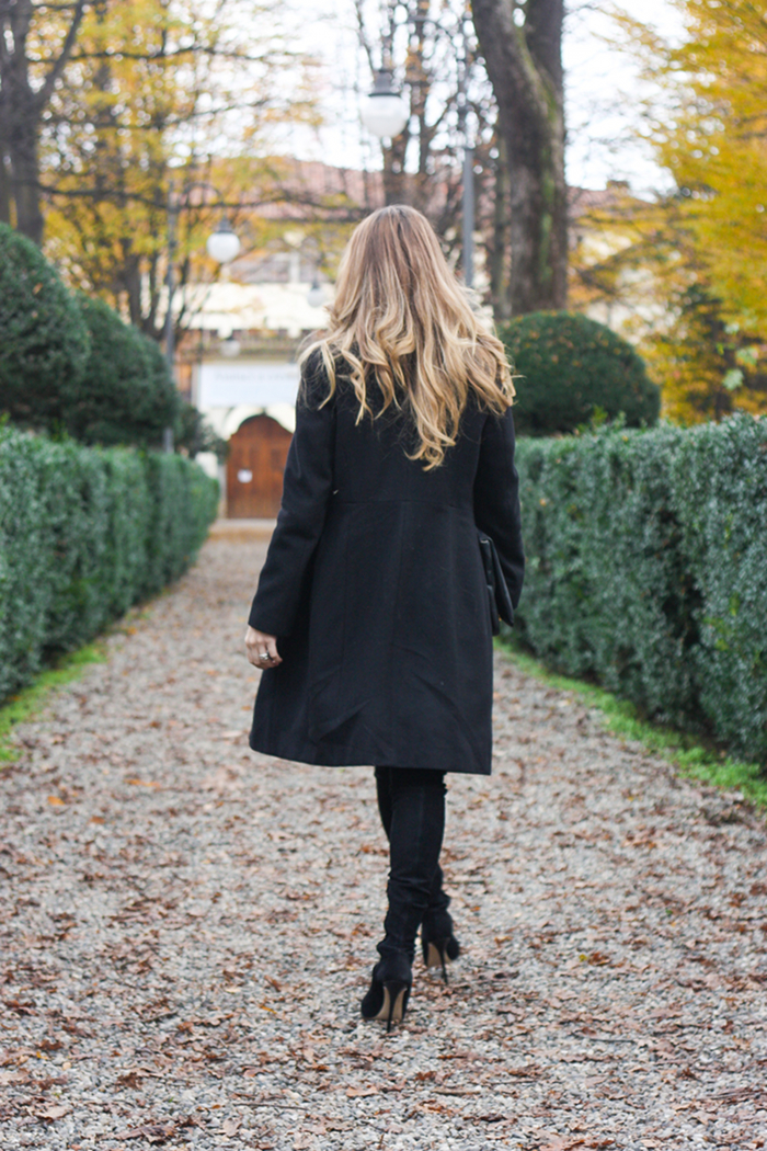 black coat outfit