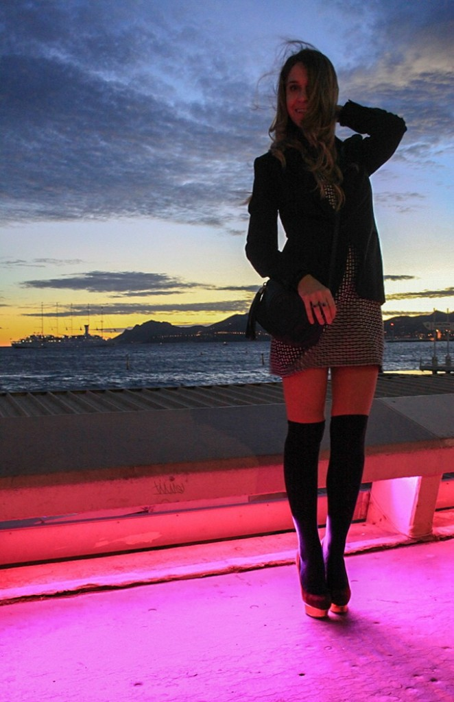cannes over the knee socks outfit