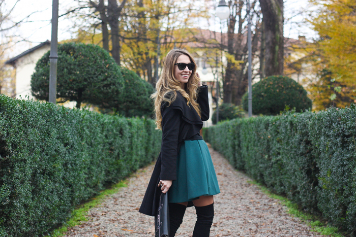 fashion blogger outfit, Iceberg, boots