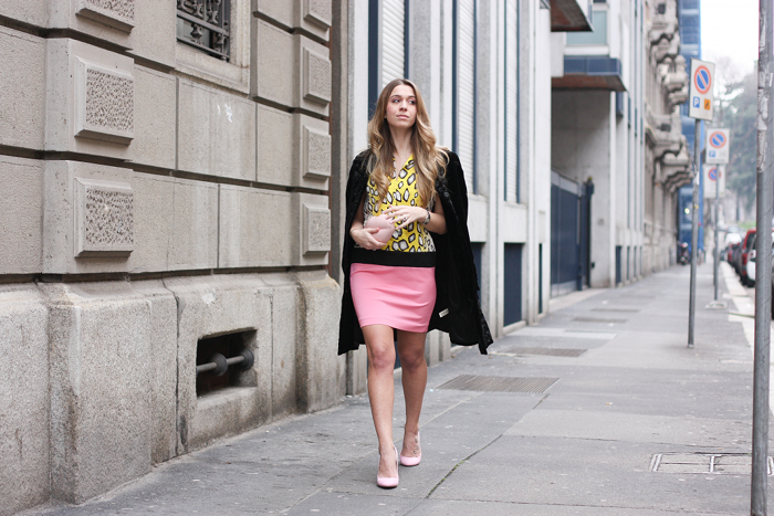 pink shoes outfit streetstyle mfw