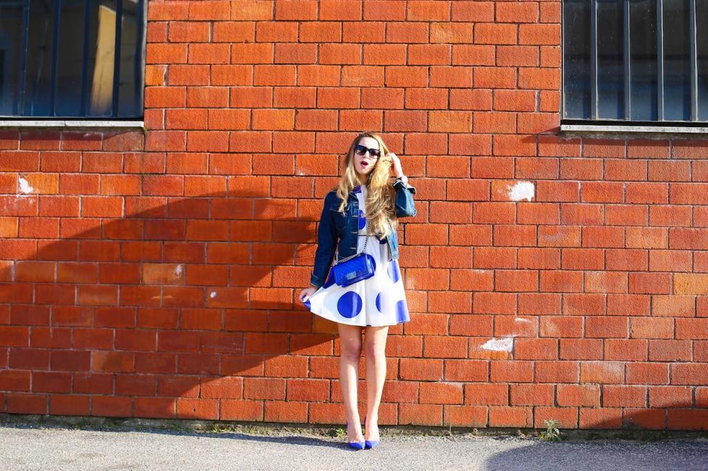 0031blugirl folies pois dress