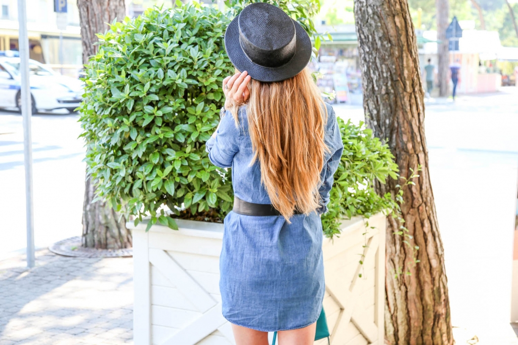 Outfit denim shirt dress