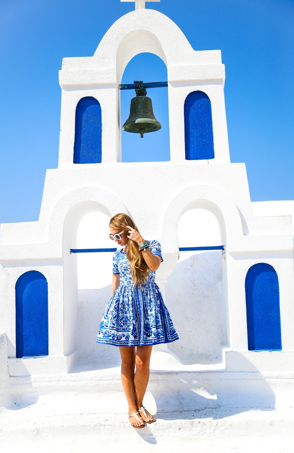 Santorini DG Maiolica dress in Oia