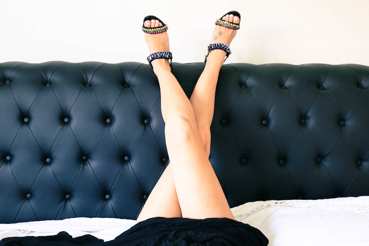 in bed with Louboutin